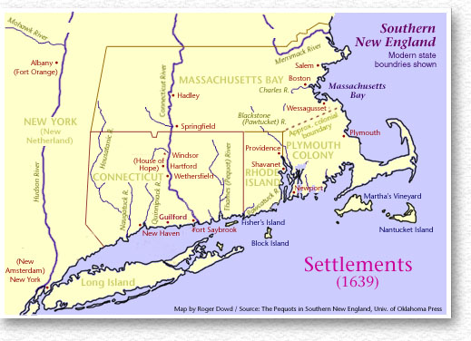 settlements 1639 southern new england