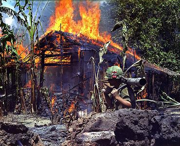 burning vietnam