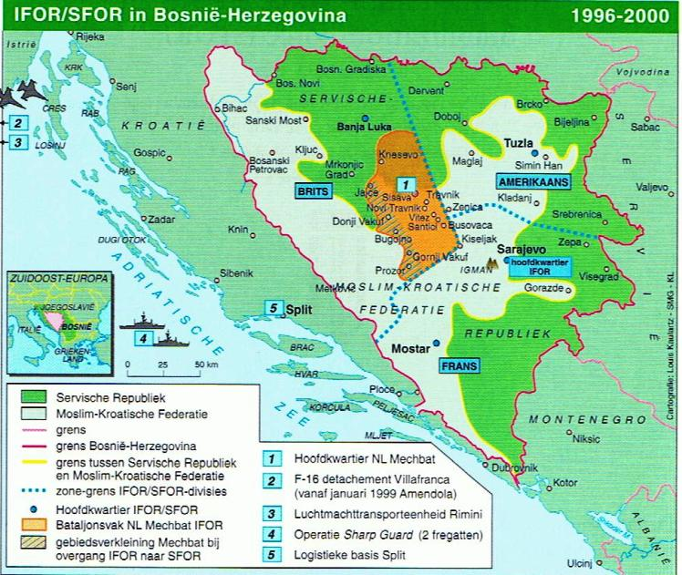 IFOR SFOR Bosnië Hercegowina 1996-2000