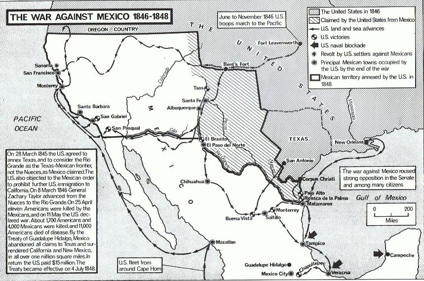 1846-1848 the war against mexico