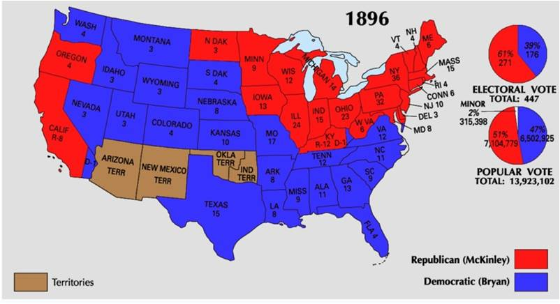 1896 vs presidential election